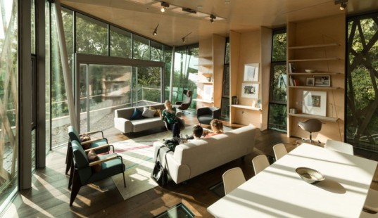 The 18th Maggie's Centre is a Tranquil Prefab 'Treehouse' for Cancer Patients