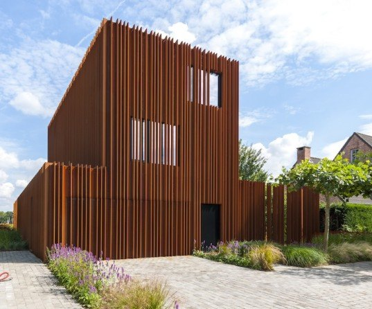 Corten House By Dmoa Architecten 171 Inhabitat Green