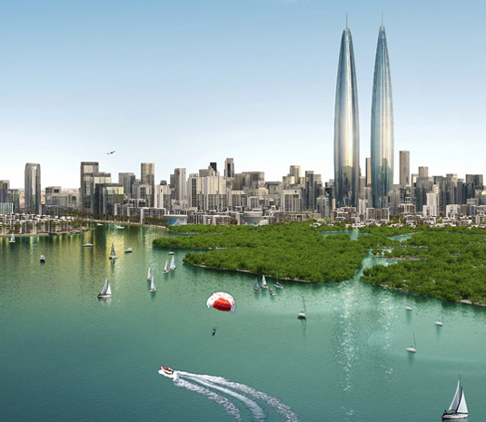 Dubai, twin towers, world's tallest towers, petronas towers,  Dubai Creek Harbour, Kuala Lumpur, middle east, skyscrapers, towers, residential towers, hiighrise