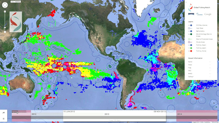 Interactive Global Fishing Watch Map to Monitor Activity on the Open