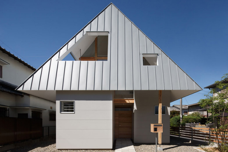 Large Overhanging Hat Shields House AA From The Japanese Sun