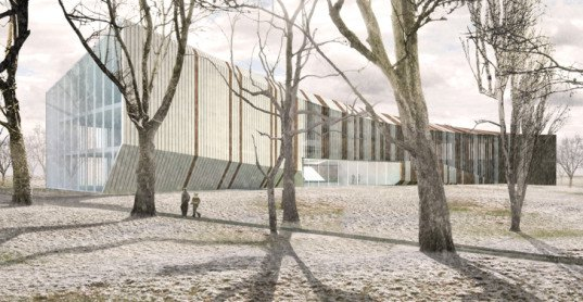 LOHA Architects, Hungarian House of Music, music, performance space, Hungary, house of music, concrete building, steel, wood