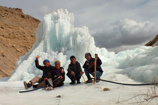 Ice Stupa Artificial Glacier