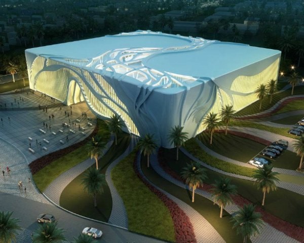Tree Inspired Indoor Soccer Complex In Qatar Provides Luminous Interior For Players And Fans Inhabitat Green Design Innovation Architecture