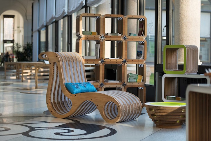 Lessmore Showcases Modern Eco Friendly Furniture Made Out Of Cardboard And Natural Materials