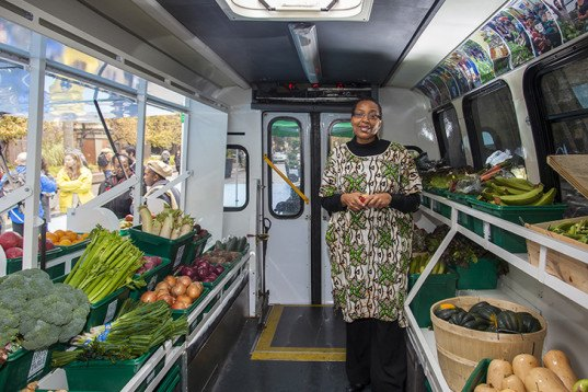 green design, eco design, sustainable design , LGA Architectural Planners, food desert, fresh produce bus, Toronto veggie bus, Toronto Transit Commission