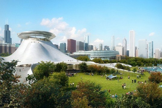 Lake Michigan, Ma Yansong, MAD Architects, Studio Gang Architects, Chicago, George Lucas, museum, museum design, northerly island, lucas museum of narrative art