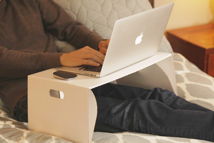 Low Cost Lapdeck Is A Recycled Cardboard Laptop Desk You