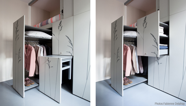 Kikoto French Architects Small Space Living Apartments Tiny Spaces Swiss
