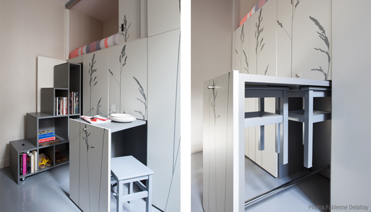 Tiny 86 Square Foot Flat In Paris Transforms Like A Swiss