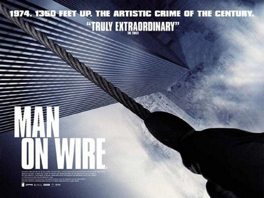 man on wire, man on wire documentary, man on wire the movie, Philippe Petit, artistic crimes, crime of the century, world trade center, twin towers