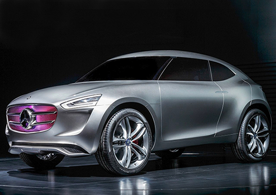 Mercedes Benz, Mercedes Benz Concept Car, Mercedes Benz G-Code, Mercedes Benz Sports Utility Coupe, Mercedes SUC, Sports Utility Coupe, paint powered car, Mercedes Benz Paint powered car, solar energy car, wind energy car, renewable energy car, clean energy car