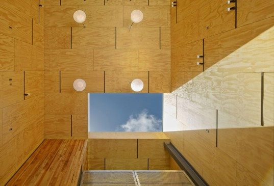 Minna Dream Shop, plywood, Interstice Architects, San Francisco, san francisco architects, passive ventilation, natural light, green renovation, garage renovation, reclaimed wood, reclaimed materials, recycled materials, green materials
