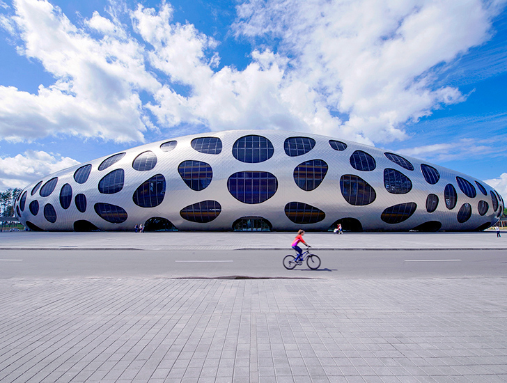 ... Football Stadium In Belarus. Architecture Nice Look