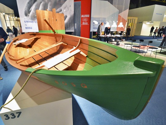 bosq, salvaged wood, salvaged wood boat, green design, sustainable design, green furniture, eco furniture, green products, green interiors, sustainable interiors, Biennale Interieur, Biennale Interieur 2014, Belgium, Kortrijk