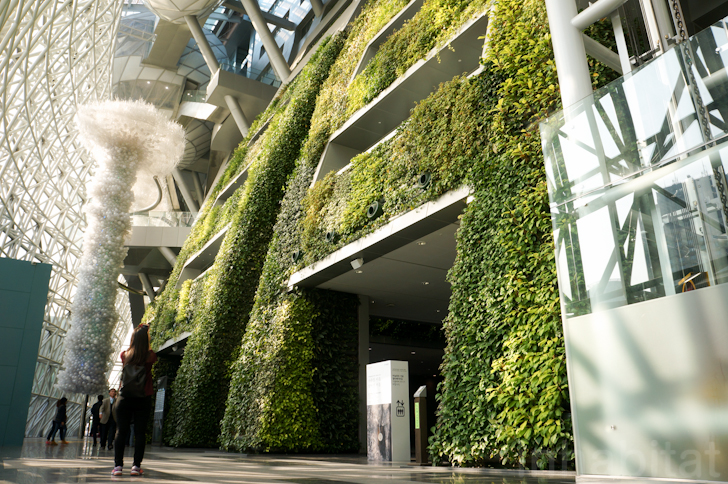 7 Story Indoor Green Wall Is As An Enormous Air Filter For