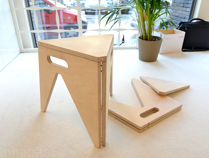 Slim Folding Stool By Arbijt 171 Inhabitat Green Design