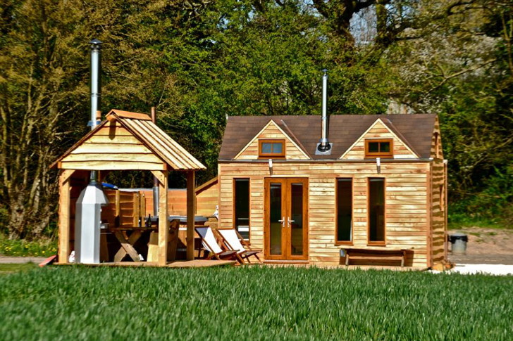 Tinywood Homes Come with Their Own Hot Tubs in the UK Inhabitat