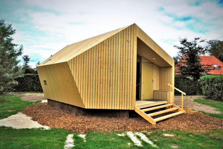 Trek In Hikers Cabin, Moodworks Architecture, kristel hermans architectuur, trek-in, prefab cabin, eco cabin, luxury camping, sustainable cabin