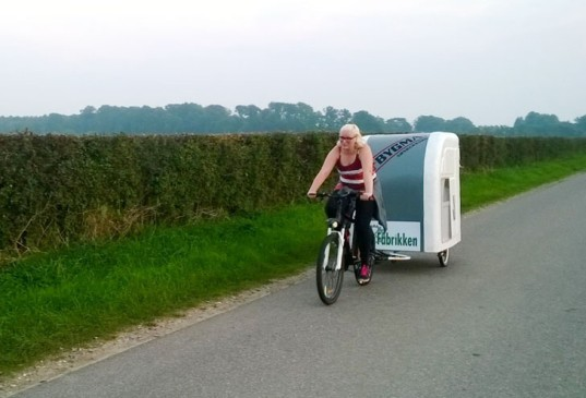 Wide Path Camper, campers, tiny campers, electric bike, pedal-powered design, bicycle, green transportation, solar cells, solar power, camping, green travel