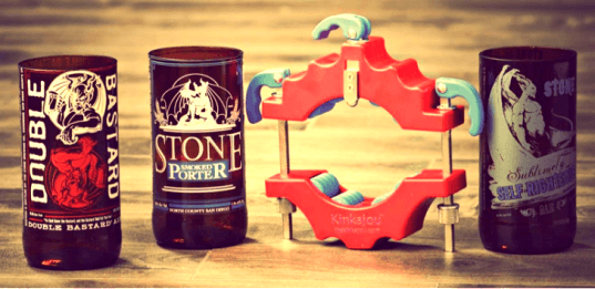 how to make drinking glasses out of beer bottles