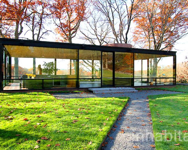 green design, eco design, sustainable design, Philip Johnson Glass House, New Canaan, radiant flooring, David Whitney, mid-century modern