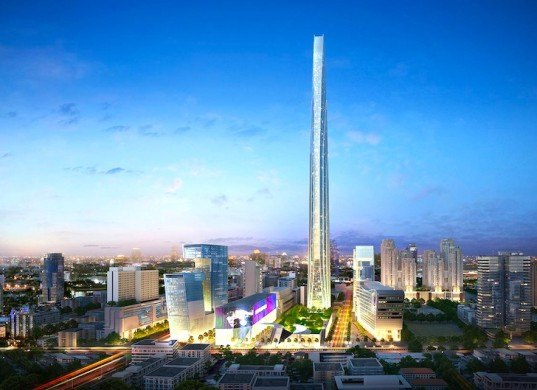 LEED Platinum, southeast asia, ASEAN, Bangkok, Thailand, Super Tower, Grand Rama 9, Supe Tower Project, Grand Canal Land Public Company, G Land, leed platinum skyscraper, skyscraper, energy efficiency, energy efficient skyscraper, sustainable architecture
