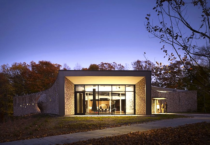 Studio gang 39 s leed gold seeking human rights center is a for Leed cabins