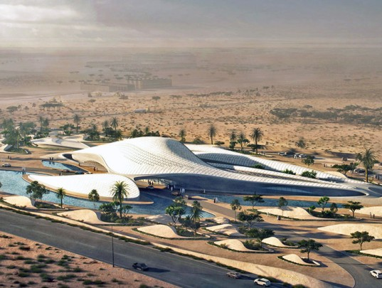 Bee'ah, LEED platinum, Zaha Hadid, Shamal winds, green energy, energy efficient, Bee'ah headquarters, natural ventilation, indirect sunlight, zero carbon, waste to energy, solar panels, ventilation energy recovery, UAE, Sharjah