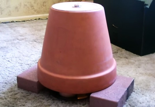 DIY, How-to, diy, how to, how-to, How To, space heater, heater, flower pot heater, flowerpot heater, terracotta pot
