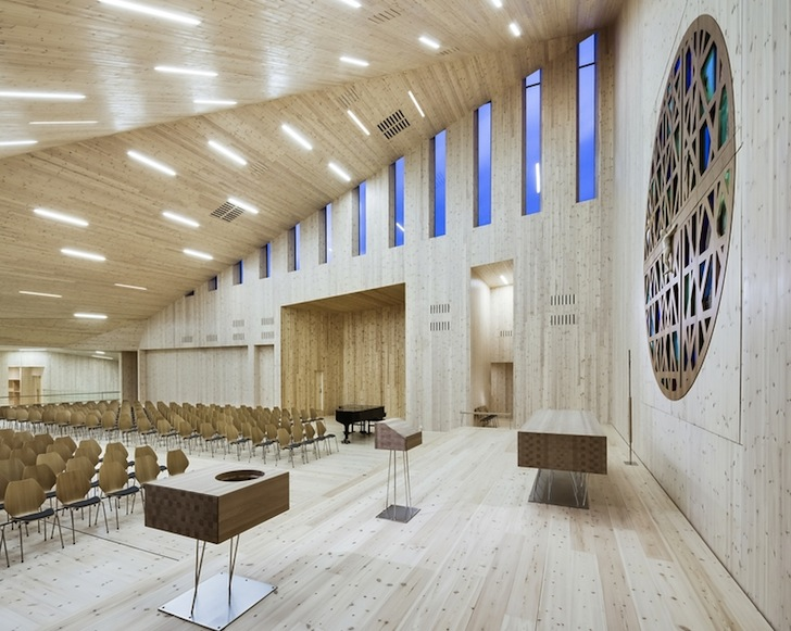 Contemporary Stave Church Rises Like A Pointy Wooden Crown In Norway
