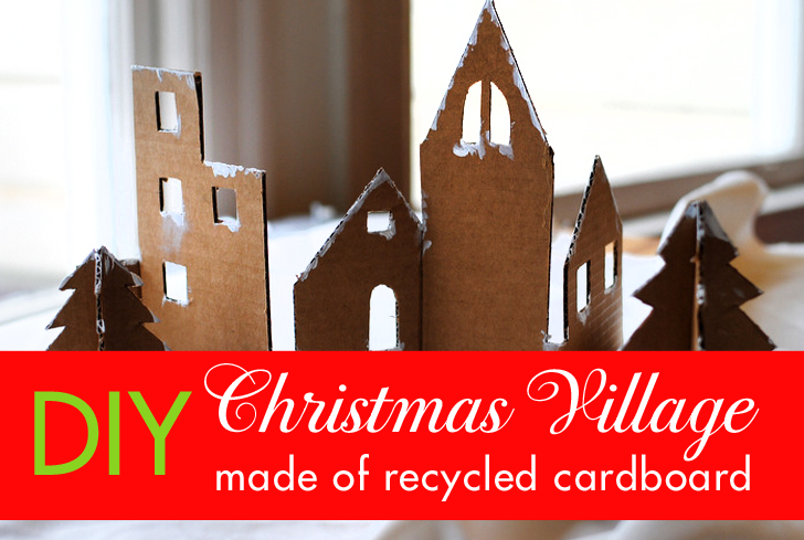 DIY: Craft an adorable Christmas village from recycled cardboard