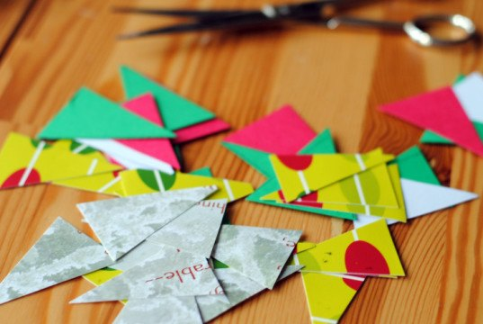 Diy Recycle Last Year S Christmas Cards Into A Colorful