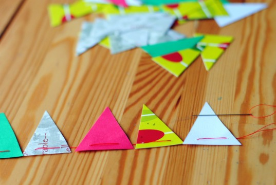 sew triangles