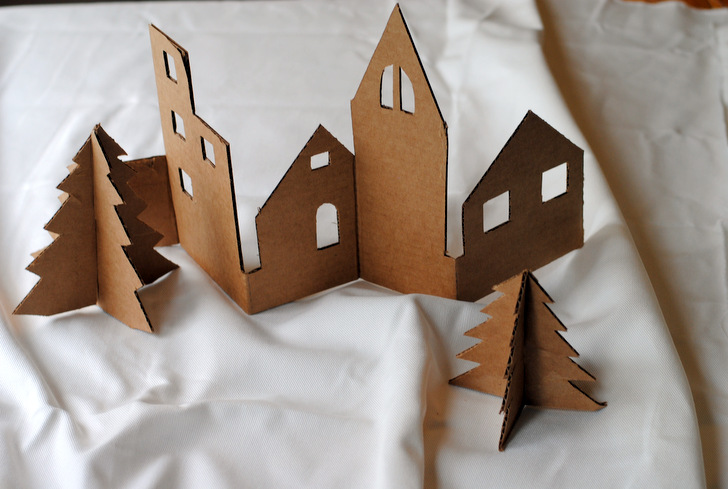 DIY: Craft an adorable Christmas village from recycled cardboard ...