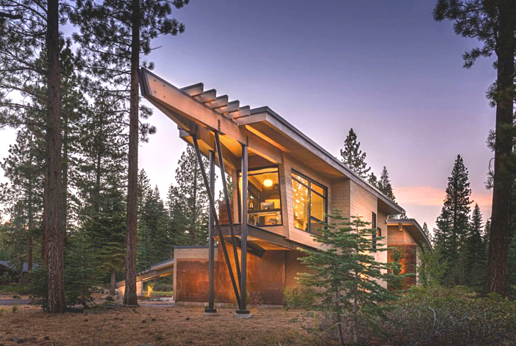 Wooden Flight House Is A Mountain Home Inspired By The