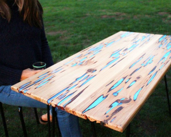 How To Make A Stunning Wooden Table With Glow In The Dark Resin Infill