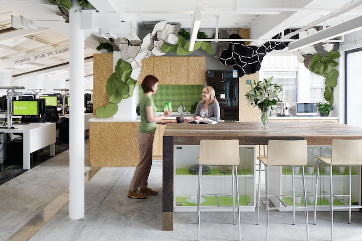 Gensler Completes Zero Carbon Glumac Office That Produces