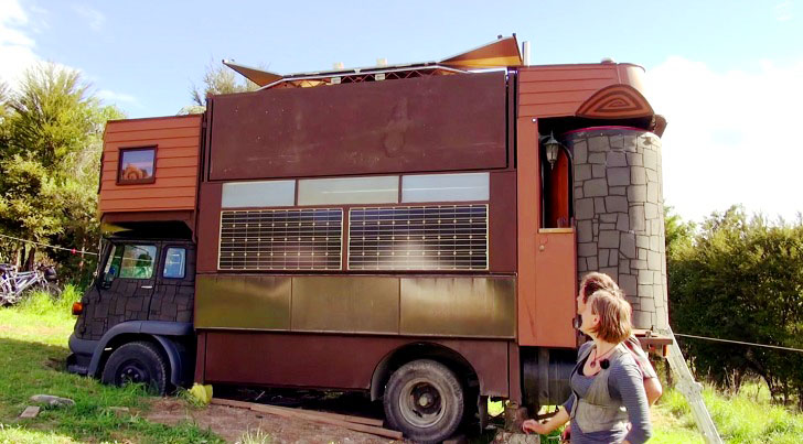 Tiny Home Designs: This Off-the-grid Truck House Transforms Into A