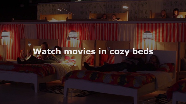 IKEA Transforms A Moscow Movie Theater Into A Giant Bedroom Inspiration Bedroom Movies