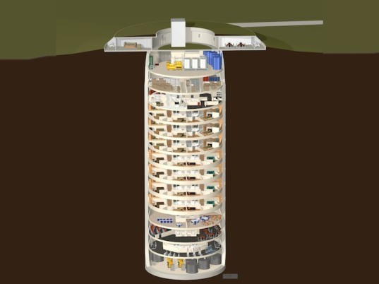 Luxury Survival Condo, Larry Hall, apocalypse, nuclear disaster, doomsday event, silo, renovated silo, underground silo, underground condo, nuclear missile site, hydroponic garden, aquaculture, wind turbine, off grid, Concordia, Kansas,