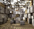 Sukkarboard is a temporary, lightweight shelter made from recycled cardboard and newspaper