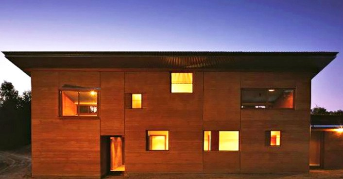 Gorgeous Rammed Earth House generates all its own energy and captures all its own water in Australia