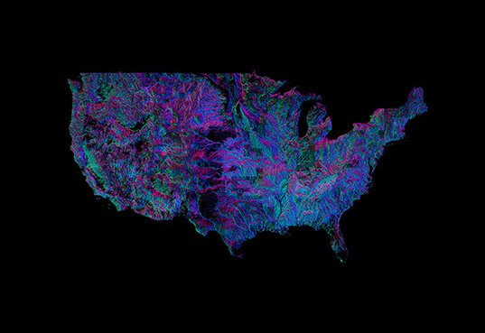 River Map Shows Which Way Every River In The US Flows Inhabitat - Rivers in the us map