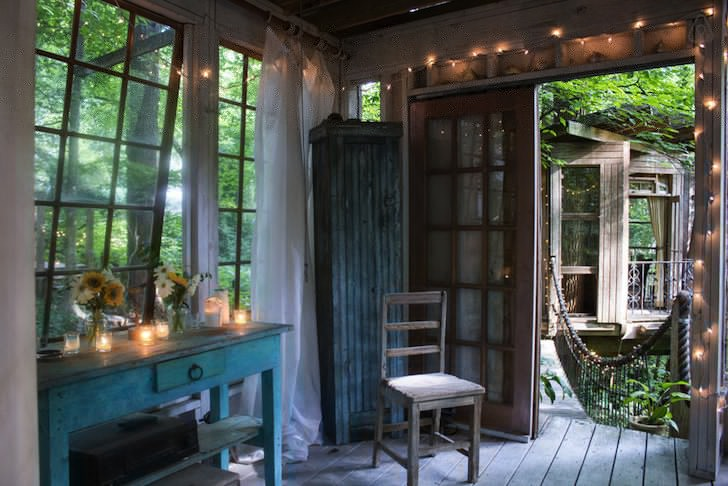 Live Out Your Fairytale Fantasy In This Dreamy Treehouse