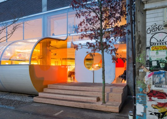 Second Home, London, selgascano, spanish architects, serpentine pavilion, office building, acrylic walls, flexible spaces, UK architecture, bubble-like architecture, bubble, acrylic facade, facade design, undulating facade