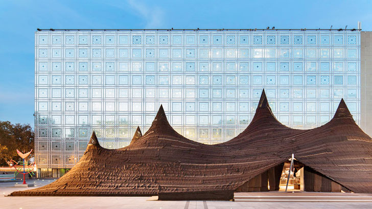 Stunning Moroccan tent installation contrasts with Nouvelu0027s famous Institute du Monde Arabe in Paris | Inhabitat - Green Design Innovation Architecture ... & Stunning Moroccan tent installation contrasts with Nouvelu0027s famous ...