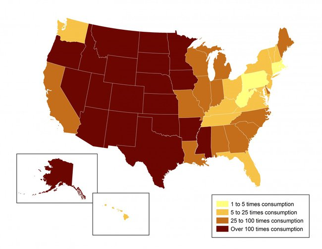 The US Could Power Itself With Solar Times Over Inhabitat - Solar panel map us