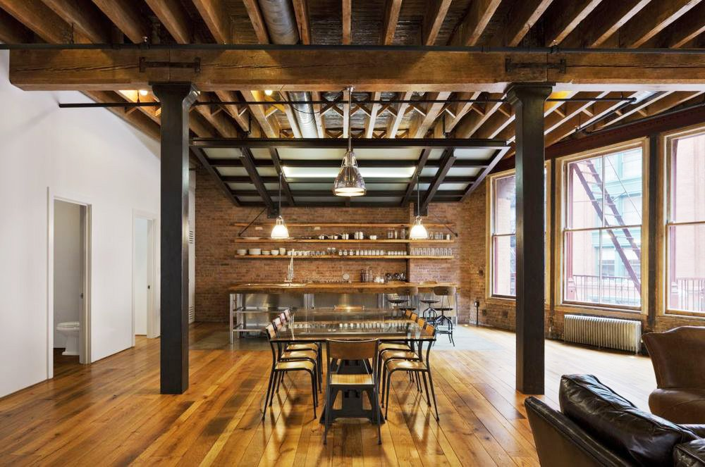Reclaimed materials make this tribeca loft by jane kim for Industrial design innovation