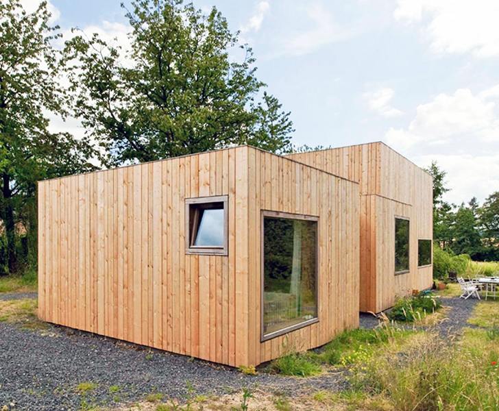 Cabin Like Home In Belgium Has 14 Different Facades Inhabitat